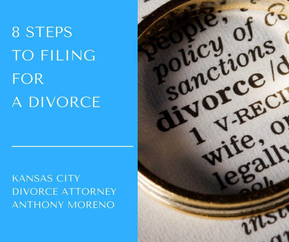 8 STEPS TO FILING FOR A DIVORCE